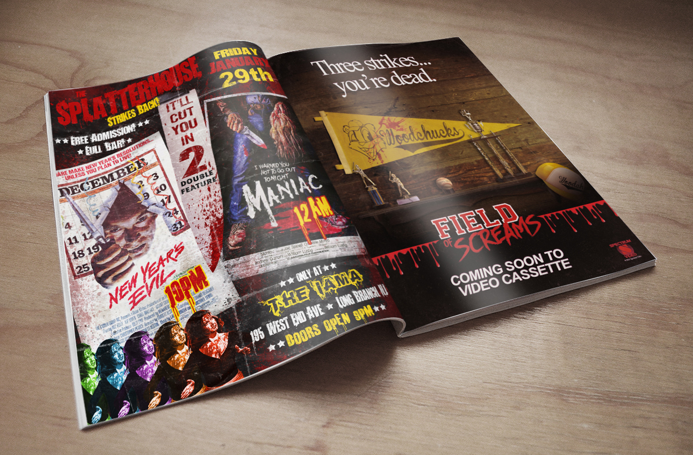 Horror Magazine Spread